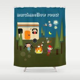 Marshmellow Roast Shower Curtain