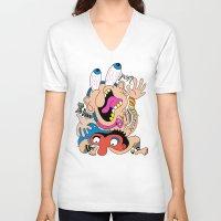 weird V-neck T-shirts featuring Weird Pattern by Chris Piascik