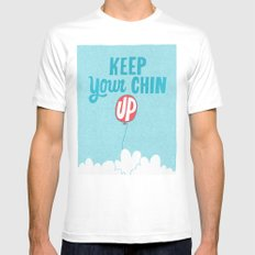 Keep Your Chin Up MEDIUM Mens Fitted Tee White