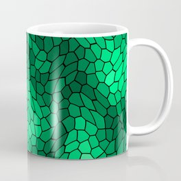 Stained glass texture of snake green leather with bright heat spots. Coffee Mug