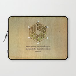 Forest & Axe — Illustrated Quote Laptop Sleeve