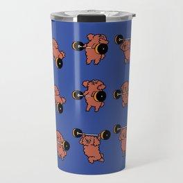 Olympic Lifting  Poodle Travel Mug