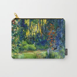 """Claude Monet """"Water lily pond at Giverny"""", 1919 Carry-All Pouch"""