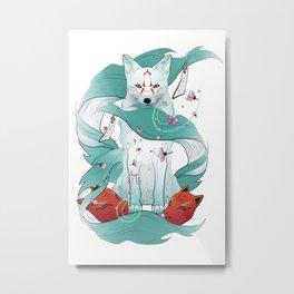 Frozen Kitsune Metal Print