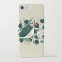 puffin iPhone & iPod Cases featuring Blackberry Puffin by Kelsey King Illustration