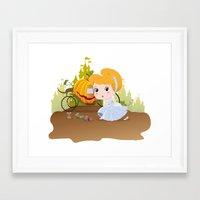 cinderella Framed Art Prints featuring Cinderella by 7pk2 online