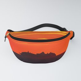 Boat on the Bay of Fundy. Canada. Fanny Pack