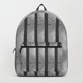 SILVER & BLACK VERTICAL STRIPES  Backpack