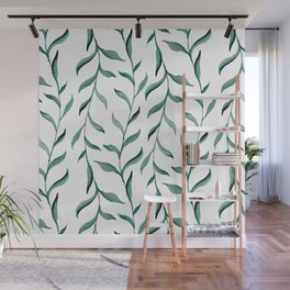 Blue branches. Wall Mural