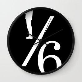 One Sixth Ism (White Logo) Wall Clock
