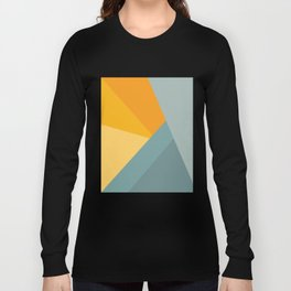 Abstract Mountain Sunrise Long Sleeve T-shirt
