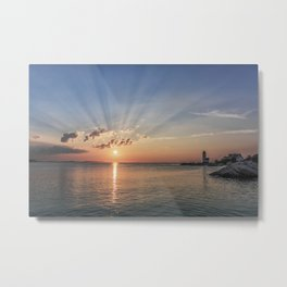 Sunbeams at Annisquam lighthouse #2 Metal Print