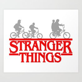 Stranger Thing Bike Art Print