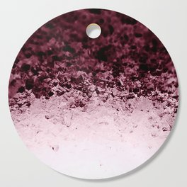 Burgundy CrYSTALS Ombre Gradient Cutting Board