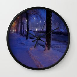 Chicago Snow: All is Calm (Chicago Winter Collection) Wall Clock