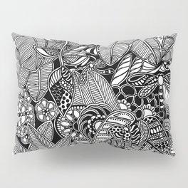 Taman Sari #1 black and white doodle art Pillow Sham