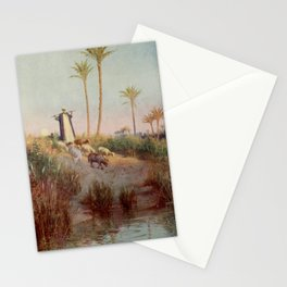 Kelly, Robert Talbot (1861-1934) - Egypt 1903, By still waters Stationery Cards