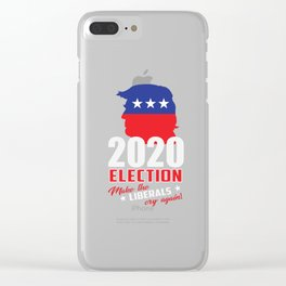 2020 ELECTION US Clear iPhone Case