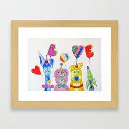 Dogs Are Love Framed Art Print