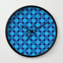 Triple Blue Dodecagons Wall Clock