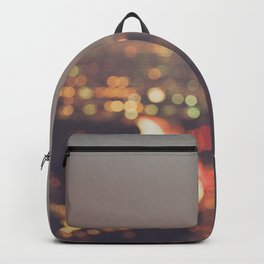 Los Angeles cityscape at night. Abstract Mulholland Backpack