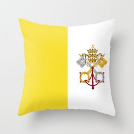 Vatican City Holy See flag emblem Throw Pillow