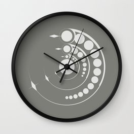 alien crop formation, sacred geometry Wall Clock