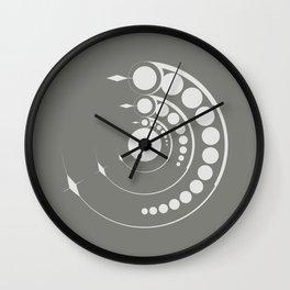 alien crop formation, sacred geometry Wall Clock