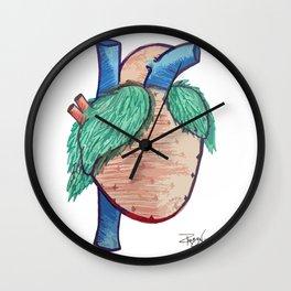 Strawberry Heart Wall Clock
