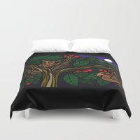 bats Duvet Covers featuring Bats by Mel McIvor