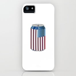 Beer Can American Flag- Proud American Patriot Cool Celebration Cool Gift iPhone Case