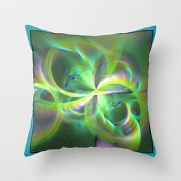 Out of Control Teal Throw Pillow