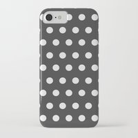 gold dots iPhone & iPod Cases featuring Dots by NobuDesign