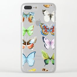 Butterfly Pattern 05 Clear iPhone Case