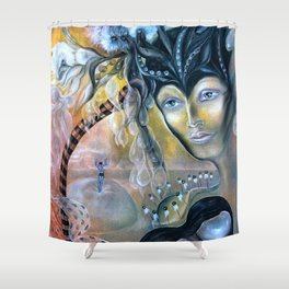 Birth of Pearl Shower Curtain