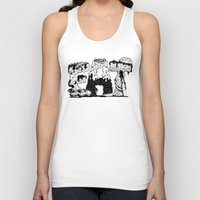 lettering Tank Tops featuring EAT - Lettering by gatotonto