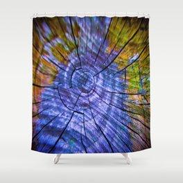 Nature's Tye Dye Shower Curtain