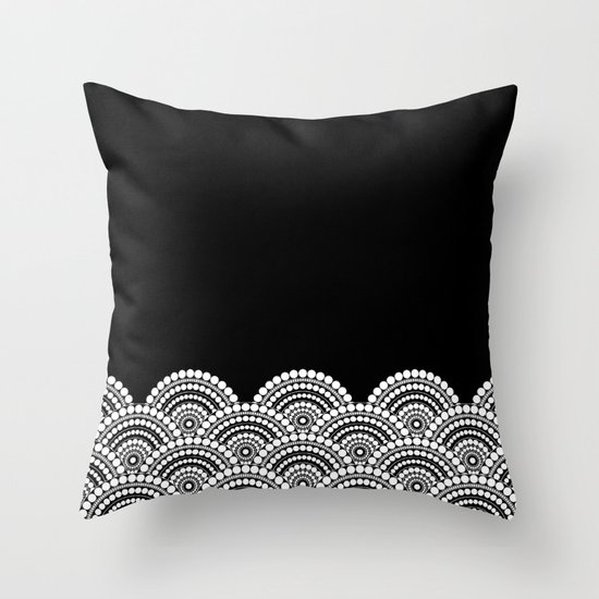 Black And White Patterned Throw Pillows : BLACK AND WHITE (abstract pattern) Throw Pillow by Absentis Designs Society6