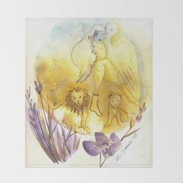 Birdman's Angel Throw Blanket