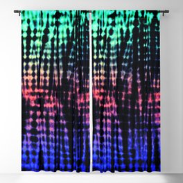 Dark Graphic Stripes Blackout Curtain