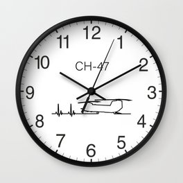 CH-47 Helicopter Heartbeat Pulse Wall Clock