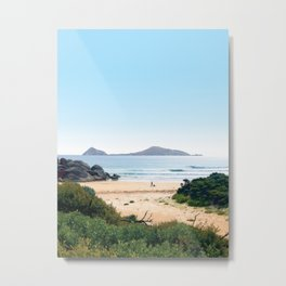 Waiting for the waves Metal Print