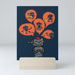 When I grow up - an evil robot dream Mini Art Print