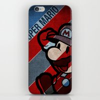 super mario iPhone & iPod Skins featuring SUPER MARIO by sbs' things