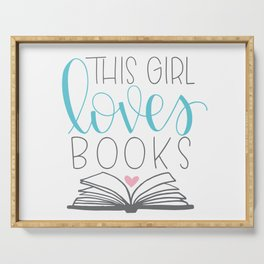 This Girl Loves Books Serving Tray