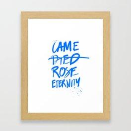 #JESUS2019 - Came Died Rose Eternity (blue) Framed Art Print