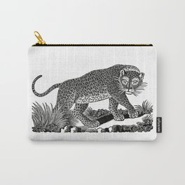 Majestic Leopard Hunts in the Night Carry-All Pouch