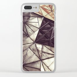 Geometric confusion #07 Clear iPhone Case