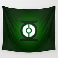 green lantern Wall Tapestries featuring Green Lantern by Some_Designs