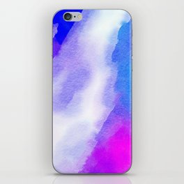 Watercolor-blue,white and pink iPhone Skin
